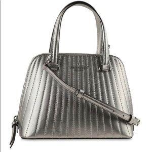 Mini dome satchel silver